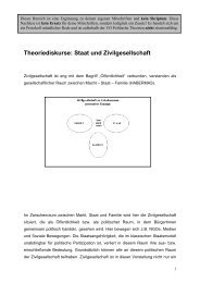 Theoriediskurse: Staat und Zivilgesellschaft - Birgit Sauer