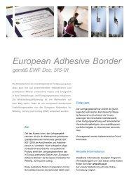 European Adhesive Bonder gemäß EWF Doc. 515-01 - Chemie.at