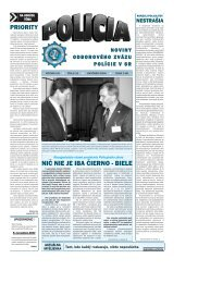 policia 10 2004.qxp - Odborový zväz polície v Slovenskej republike
