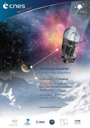 Abstracts booklet Livrets des résumés - Herschel -  Esa