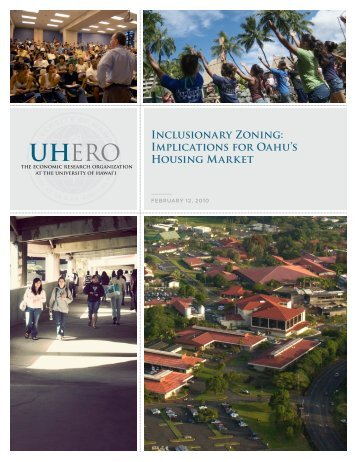 Inclusionary Zoning: Implications for Oahu's Housing Market - UHERO