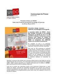 Communiqué SPIDO - SPIDO, le salon des produits innovants et ...