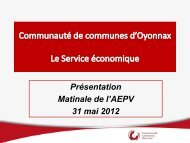 Présentation CCO - Aepv