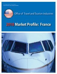 2010Market Profile: France - Office of Travel and Tourism Industries