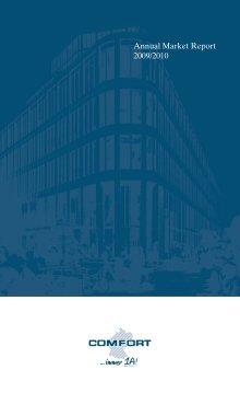 Annual Market Report 20092010 Comfort