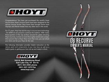 2008 HOYT Recurve Bows