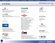Products + Answers Distribution Line Card - Entec Polymers