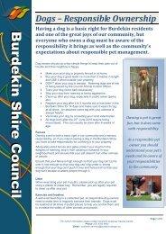 Dogs - Responsible Ownership - Burdekin Shire Council