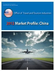 2012Market Profile: China - Office of Travel and Tourism Industries