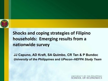 Shocks and Coping Strategies of Filipino Households - UP School of ...