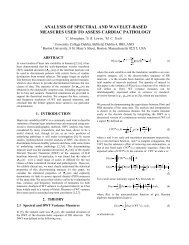 ANALYSIS OF SPECTRAL AND WAVELET-BASED MEASURES ...
