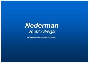 Nederman - 20 år i Norge