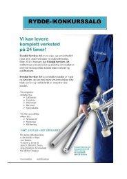 Bruktliste lagersalg 2011 juli. SISTE PDF - Fossdal Services AS