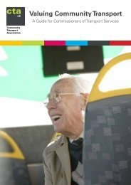 Valuing Community Transport: A Guide for Commissioners of ...