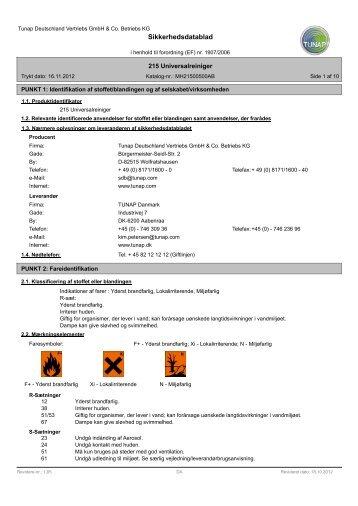 TUNAP 215 Universal Rens - Flex1one