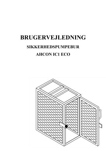 Ahcon sikkerhedspumpebur IC1 ECO - Flex1one