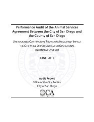 Performance Audit of the Animal Services ... - City of San Diego