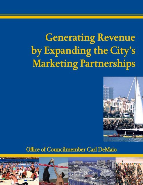 Generating Revenue by Expanding the City's Marketing Partnerships