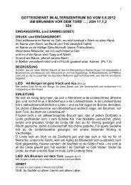 gottesdienst im alterszentrum sg vom 5.8.2012 am brunnen vor dem ...
