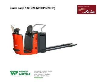 Linde sarja 132(N20,N20HP,N24HP) - Wihuri Autola