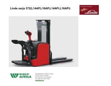 Linde sarja 372(L14AP,L16AP,L14APi,L16APi) - Wihuri Autola