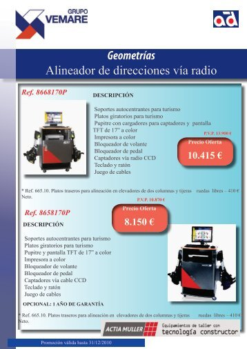 Geometrías Alineador de direcciones vía radio - Grupo Vemare