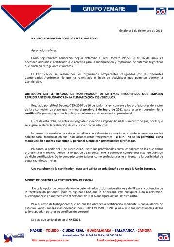 madrid – toledo – ciudad real – guadalajara ... - Grupo Vemare
