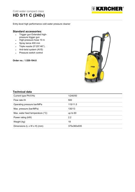 Connector Adaptor Connect KARCHER Lance With Performance Pressure Washer