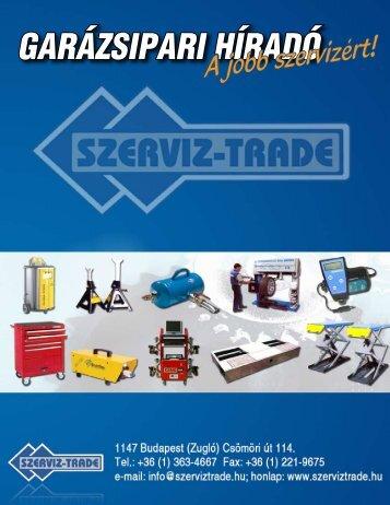 GARÁZSIPARI HÍRADÓ - szerviz-trade