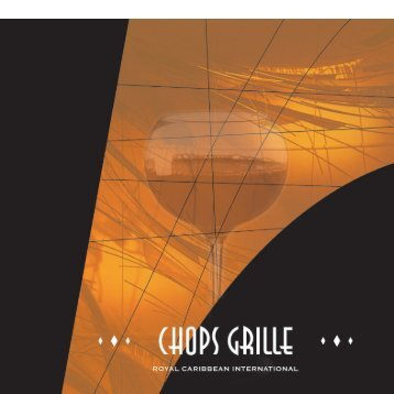 ChopsGrille Menu English - Royal Caribbean International