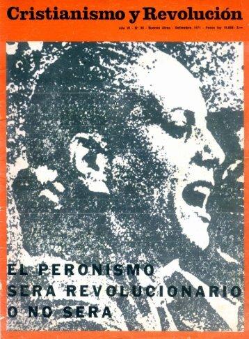 Cristianismo y Revolución Nº 30 (Sep. 1971) - CeDInCI
