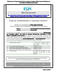 Bid Document - Software Technology Park of India, Noida