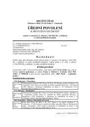 Úřední povolení pro DKV Plzeň – regionální dráhy. - Drážní úřad