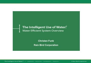 Rainbird IUOW Presentation - Christen Funk