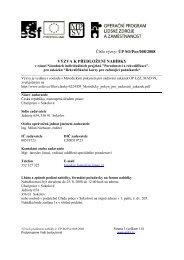 Číslo výzvy: ÚP SO/Por/008/2008 VÝZVA K PŘEDLOŽENÍ NABÍDKY