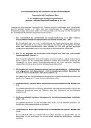 Gemeinsame Erklärung des Vorstandes und des ... - Franconofurt AG
