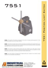 7551 Position Limit Switch - Industrial Power & Control