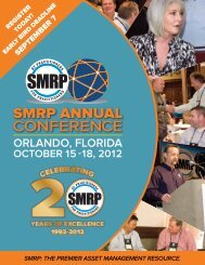 septembeR 7 - Society for Maintenance & Reliability Professionals