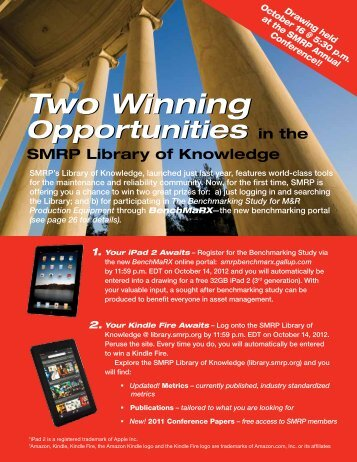 Two Winning Two Winning - Society for Maintenance & Reliability ...