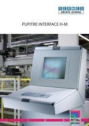 Pupitres interface homme - SERMES