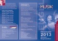 Programmvorschau Januar bis September 2013 - Musik an der ...