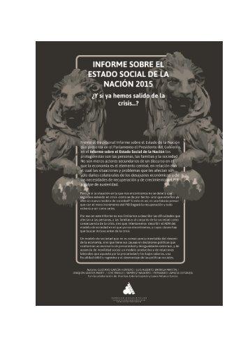 INFORME ESTADO SOCIAL 2015 3
