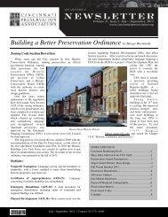 Third Quarter 2012 - Cincinnati Preservation Association