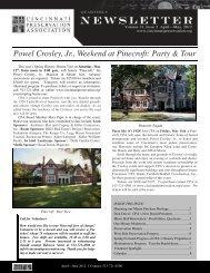 Powel Crosley, Jr., Weekend at Pinecroft - Cincinnati Preservation ...