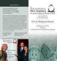 Flyer - Bürgerstiftung Augsburg