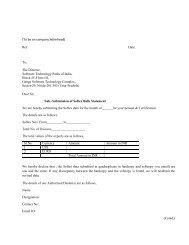 Covering Letter - Software Technology Park of India, Noida