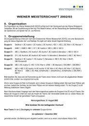 0. Organisation - Wiener Bridgesport-Verband online