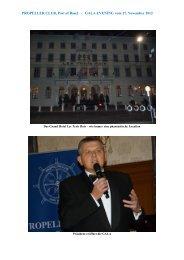 GALA EVENING vom 17. November 2012 - Propeller Club Basel