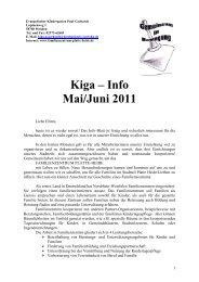 Kiga – Info Mai/Juni 2011