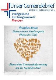 Untitled - Ev. Kirchengemeinde Menden